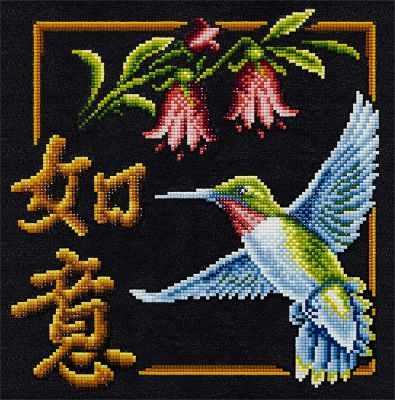ALVR-10 Кристальная мозаика (алмазная вышивка) 005  Иероглиф Исполнение желаний  - Мозаика «ФРЕЯ»