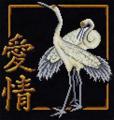 ALVR-10 Кристальная мозаика (алмазная вышивка) 006  Иероглиф Любовь  - Мозаика «ФРЕЯ»