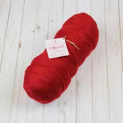 Толстая пряжа OPTIMAL Цвет.PO5 Красный - Толстая пряжа «CLOUDLET»