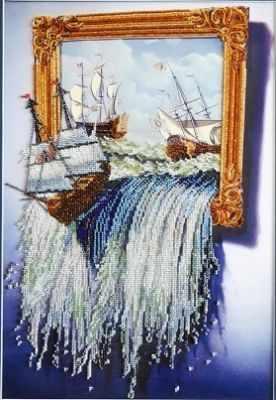 Фото - Набор для вышивания Tela Artis НТК-022 - Море в картине- набор набор для вышивания tela artis нтк 030 поп арт кот набор tela artis