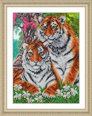 Б1469 Тигры (Паутинка) - Наборы для вышивания «Паутинка»