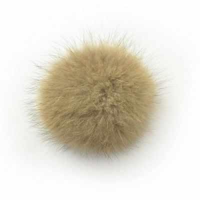 TBY.PNE12 Помпон натуральный  Енот 12см цв.натуральный коричневый