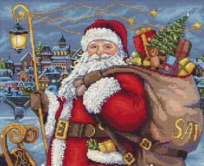 К-102 Санта идет! (Мережка) - Наборы для вышивания «Мережка»