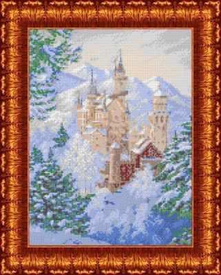 Основа для вышивания с нанесённым рисунком Каролинка КБП 3039 Зимний замок - схема для вышивания (Каролинка)