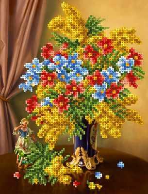 Основа для вышивания с нанесённым рисунком Каролинка КБЦ 4031 Весеннее цветение - схема для вышивания (Каролинка)