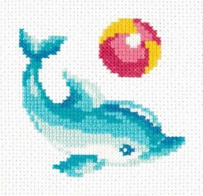 Набор для вышивания Чудесная игла 10-30 Дельфинчик