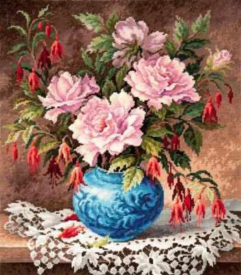 40-75 Розы и фуксии - Наборы для вышивания «Чудесная игла»