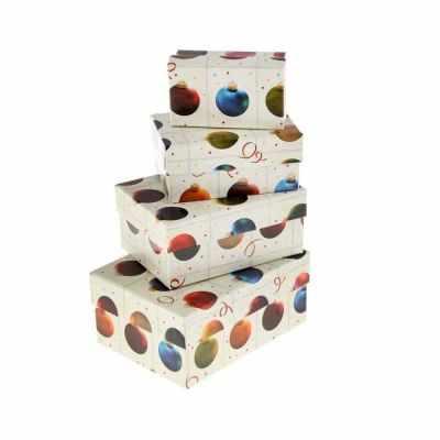 1235114 Набор коробок 4в1  Елочные шары  - Подарочные коробки