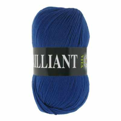 Пряжа VITA Пряжа VITA Brilliant Цвет.4989 Синий сапфир