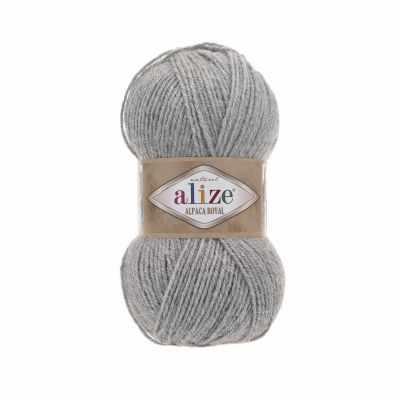 Пряжа Alize Пряжа Alize Alpaca Royal Цвет.21 св.серый меланж