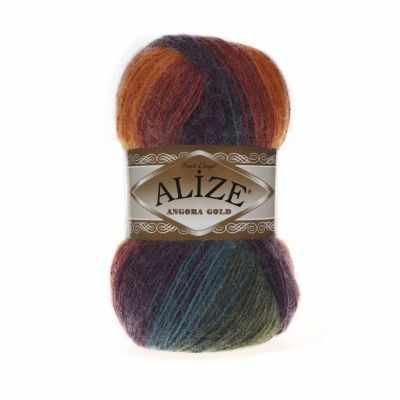 Пряжа Alize Пряжа Alize Angora Gold Batik Цвет.4827 Оранж.роз.фиол.зелен
