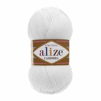 Пряжа Alize Пряжа Alize Cashmira Цвет.55 Белый