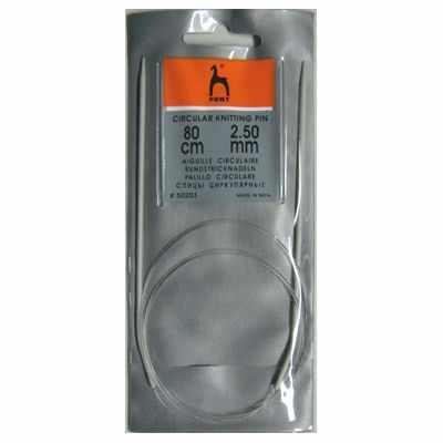 Инструмент для вязания PONY 50203 Спицы круговые 2,50 мм/ 80 см, алюминий