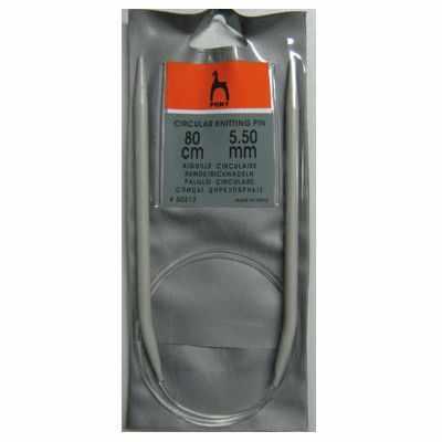 Инструмент для вязания PONY 50212 Спицы круговые 5,50 мм/ 80 см, алюминий