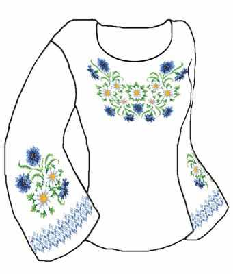 Заготовка для вышиванки Каролинка КБСН/хб/-11 Набор для вышивания сорочки (Каролинка)
