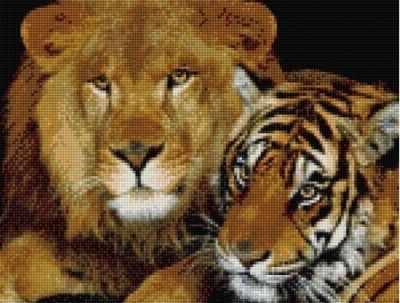 СК603  Царская пара  - Мозаика «ИМПЕРИЯ БИСЕРА»
