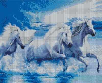 СК635  Тройка в воде  - Мозаика «ИМПЕРИЯ БИСЕРА»