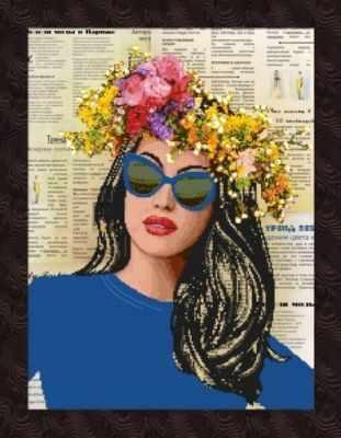 1НКЦ-026 Журнальная графика BLUE - Наборы для вышивания икон «Художественные мастерские»