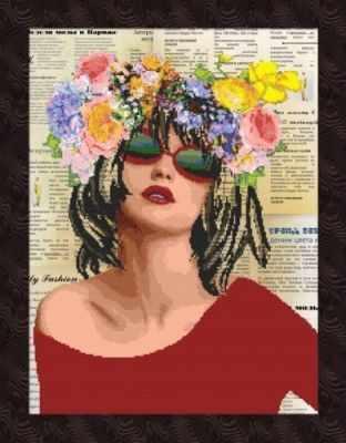 1НКЦ-027 Журнальная графика RED - Наборы для вышивания икон «Художественные мастерские»