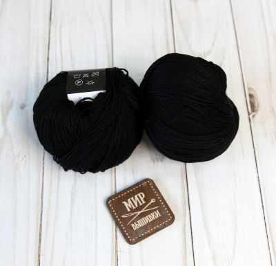 Пряжа Seam Пряжа Seam Premium Silk Цвет.02 черный