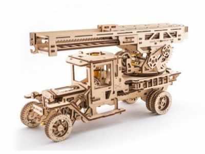 Набор из фанеры Ugears 70022 3D-пазл механический - Пожарная лестница конструктор ugears 3d пазл грузовик ugm11