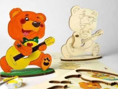 10002 Конструктор 3D-пазл 4kids - Медвежонок