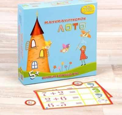 1501437 Настольная игра  Математическое лото  - Настольные игры