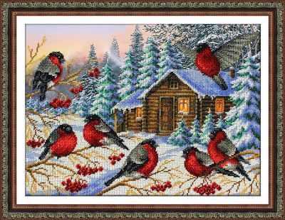 Б1437 Снегири (Паутинка) - Наборы для вышивания «Паутинка»