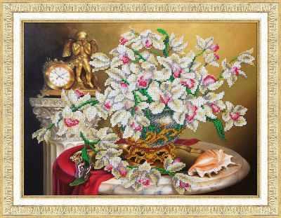 Б1271 Орхидеи (Паутинка) - Наборы для вышивания «Паутинка»