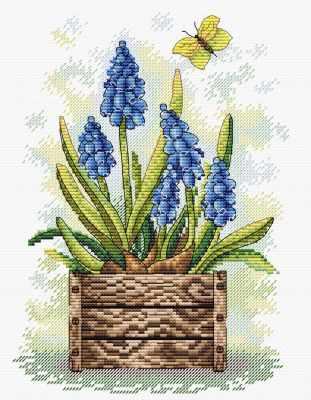 Набор для вышивания МП Студия М-206 Сапфировый цветок