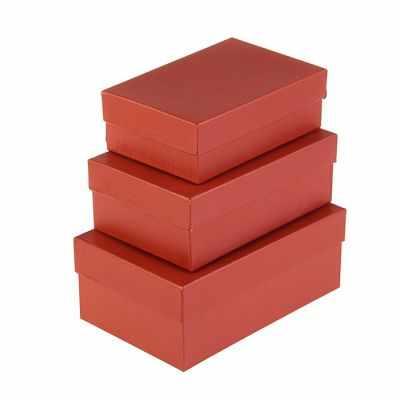 2928632 Набор коробок 3в1  Красный электро  - Подарочные коробки
