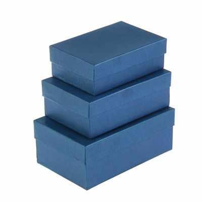 2928633 Набор коробок 3в1  Синий электро  - Подарочные коробки