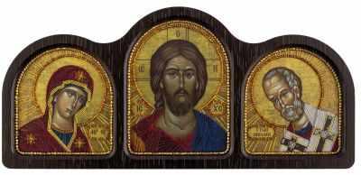 СЕ 6005 Триптих  Богородица, Спаситель, Николай Чудотворец