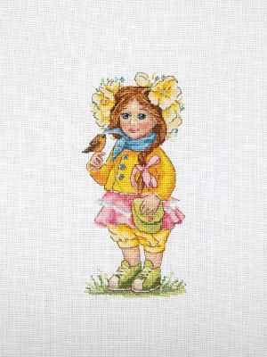 К-98 Весення девочка (Мережка) - Наборы для вышивания «Мережка»