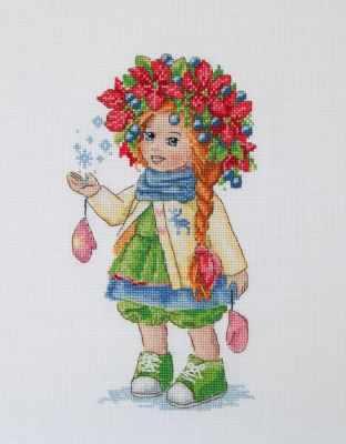 К-105 Зимняя девочка (Мережка) - Наборы для вышивания «Мережка»