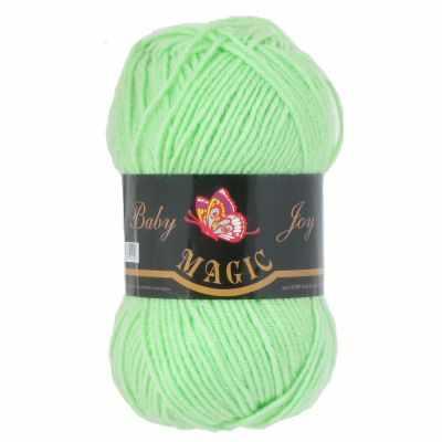 Пряжа Magic Пряжа Magic Baby Joy Цвет.5706 Нежно-зеленый