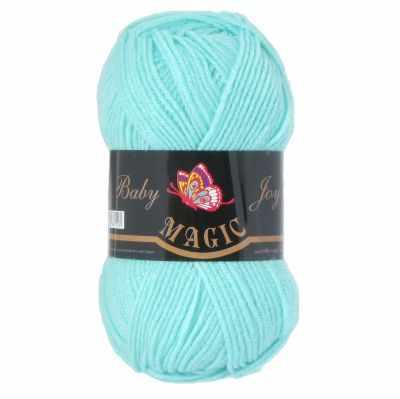 Пряжа Magic Пряжа Magic Baby Joy Цвет.5707 Светлая зеленая бирюза