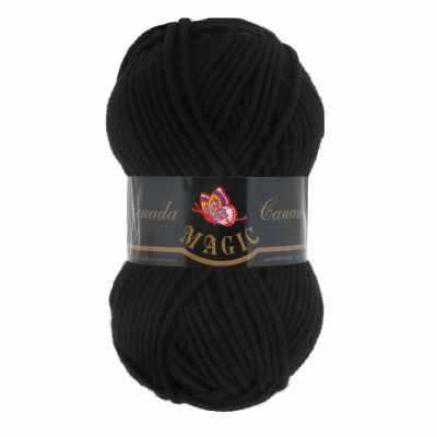 Фото - Пряжа Magic Пряжа Magic Canada Цвет.3702 Черный дутики для девочки biki цвет черный a b23 33 c размер 34