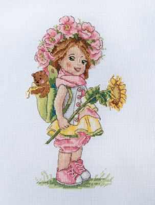 К-110 Летняя девочка (Мережка) - Наборы для вышивания «Мережка»