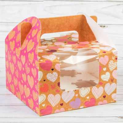 Упаковка для выпечки Дарите Счастье 2699935 Коробочка для кексов