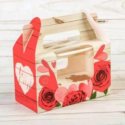 Упаковка для выпечки Дарите Счастье 2699937 Коробочка для кексов