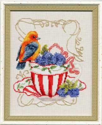 СШ-014 Вкусняшки для пташки - Наборы для вышивания крестиком «Золотое Руно»