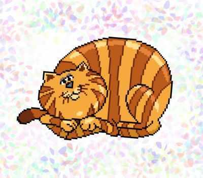 Флизелин с рисунком Confetti K322 Полосатый кот цена 2017