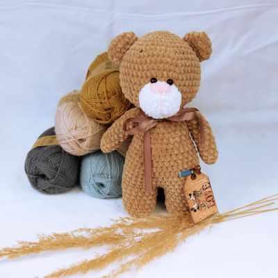 авторская игрушка ручной работы мишка тедди с любовью Игрушка ручной работы Arapova A. Мишка Топтыжка