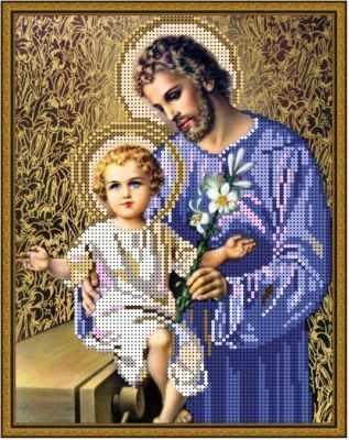 Основа для вышивания с нанесённым рисунком Алёшкина любовь Б-4399 - Отец и сын - схема для вышивания (Алёшкина любовь)
