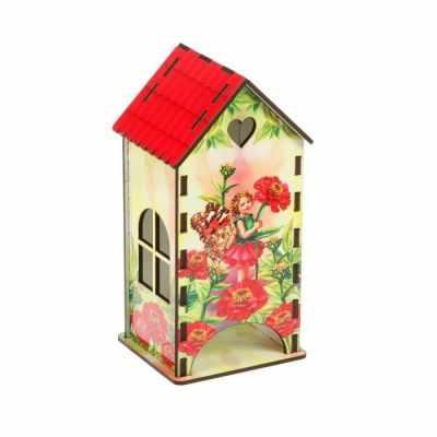 2453717 Чайный домик «Маленькая эльфийка и красные цинии»