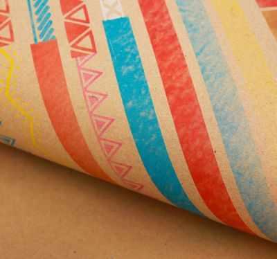 Бумага для упаковки подарков Дарите Счастье 2771482 Бумага крафт