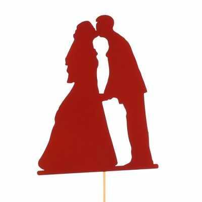 Украшение для выпечки - 2885854 Топпер «Поцелуй молодожёнов», красный