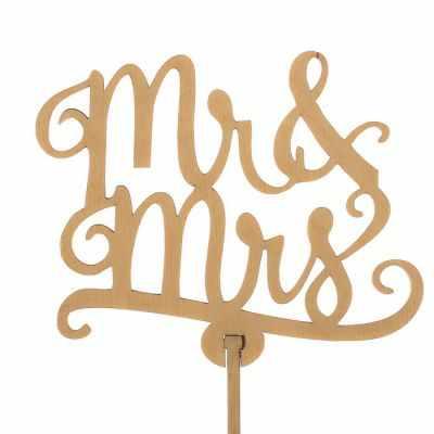 Украшение для выпечки - 2885888 Топпер «Mr&Mrs», натуральный