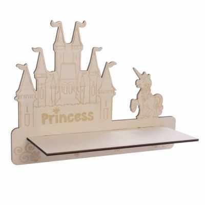 2329891 Декоративная полочка Замок принцессы (деревянная заготовка)